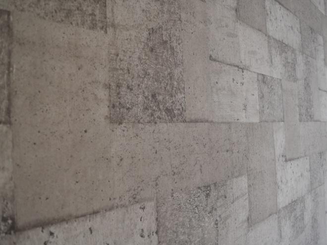 コンクリートブロック仕様の壁紙