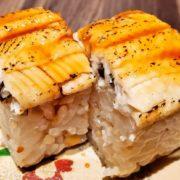 グランヴィリオホテル宮島の料理の炙り穴子の五穀寿司
